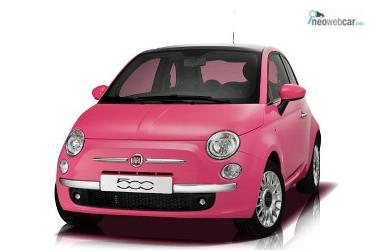Fiat 500 So pink